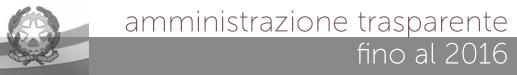 amministrazione trasparente fino al 2016