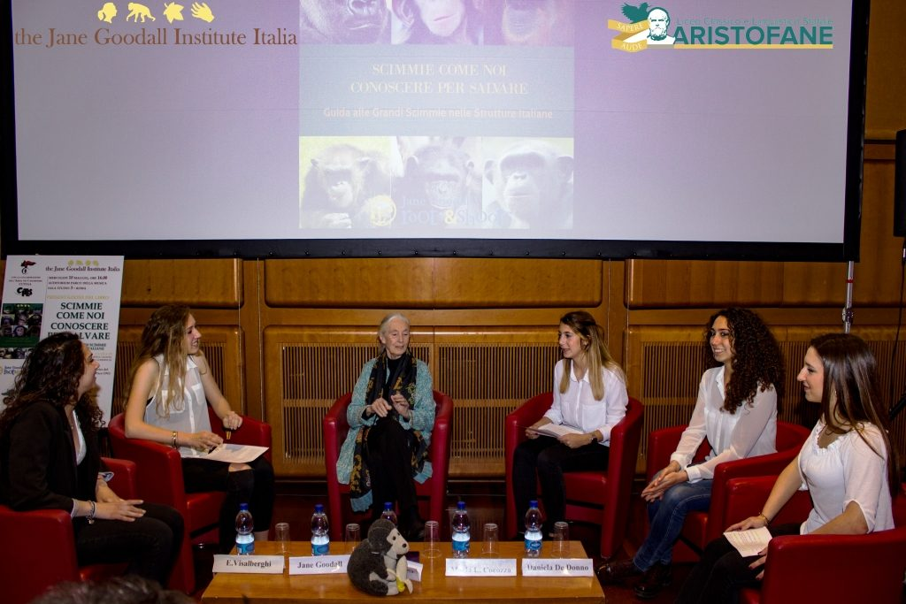 Jane Goodall incontra alunni Aristofane