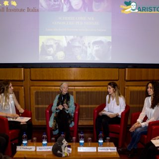Jane Goodall incontra alunni Aristofane