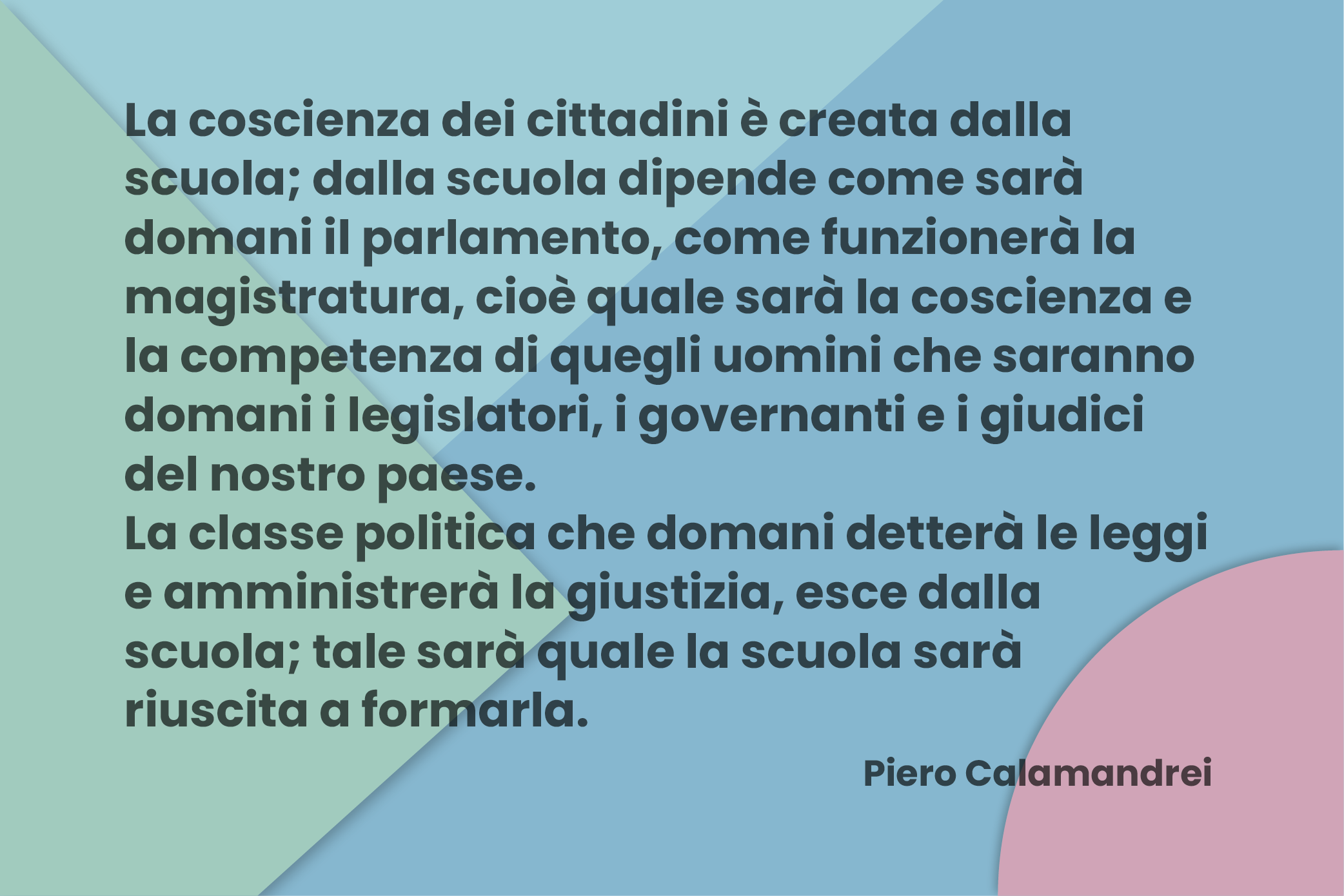 frase di Piero Calamandrei